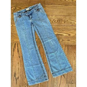 Free People Jeans Bell Bottom Flare Light Wash